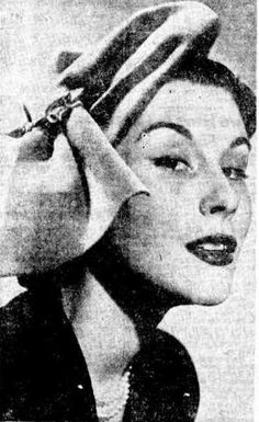 1950 Newcastle morning herald hat fashion trends