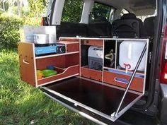 New ideas for truck camper interior stove Pickup Camper, Car Camper, Mini Camper, Camper Trailers, Ford Transit Camper, Toyota Previa, Minivan Camping, Truck Camping, Camping Cabins