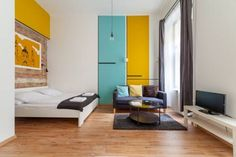 Tatra 4 Studios Budapest Featuring air conditioning and modern interior, Tatra 4 Studios are self-catering accommodation units located in central Budapest, 600 metres from the Nyugati Railway Station. Free WiFi access is available.