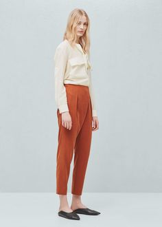 Soft fabric trousers | MANGO