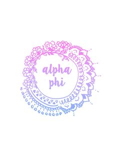 Alpha Phi Ombre Mandala by rosiestelling