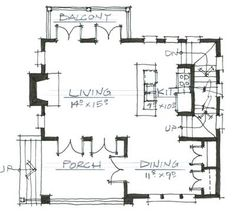 Cottage Style House Plan - 3 Beds 3.00 Baths 1841 Sq/Ft Plan #464-9 Floor Plan - Main Floor Plan - Houseplans.com