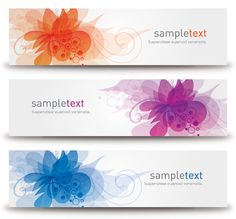 Blossom Banners - Free Vector Graphic