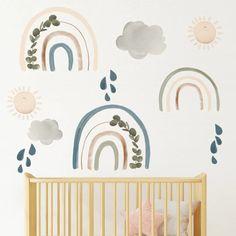 Sierra Rainbow Wall Decals - Project Nursery Clouds Nursery, Nursery Wall Decals, Vinyl Wall Decals, Girl Nursery, Girl Room, Boho Nursery, Nursery Room, Girls Bedroom, Rainbow Wall Decal
