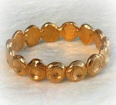 Gold thin ring . Women delicate ring . Woman 14 karat by shmukies