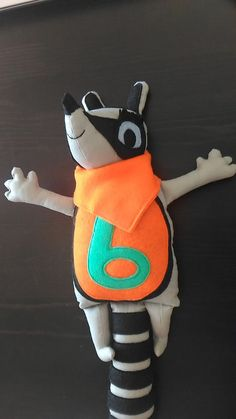 Numtum number 6 - handmade soft toy, inspired from cbeebies programme numtums