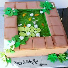 Koi pond cake