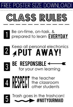 I don't know how but I need to modify this for home use.especially 💗 the 😂👍 Pix For > High School Classroom Rules And Consequences Classroom Posters, Science Classroom, Classroom Ideas, Classroom Pictures, Classroom Norms, Classroom Layout, Classroom Signs, Classroom Supplies, Middle School Classroom