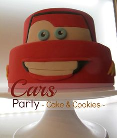 cars party lightning mcqueen cake and cookies by ©kleinstyle