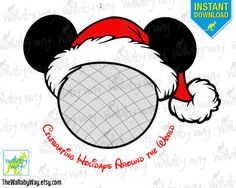 Epcot Christmas Printable Disney Iron On Transfer or Use as Clipart - DIY Christmas Shirt, Mickey's Very Merry Christmas Party by TheWallabyWay on Etsy