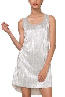 65345b96a2a0 Desigual zlatavé plisované party šaty Maribel Figure Flattering Dresses