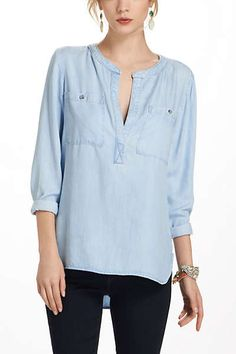 Anthropologie - Bess Pocketed Henley