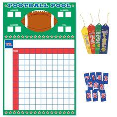 100 Square Football Board 100 Square Football Pool Sheet