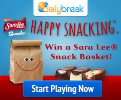 DailyBreak $$ Sara Lee Weekly Sweepstakes!