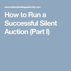 How To Write A Letter Asking For Silent Auction Donations