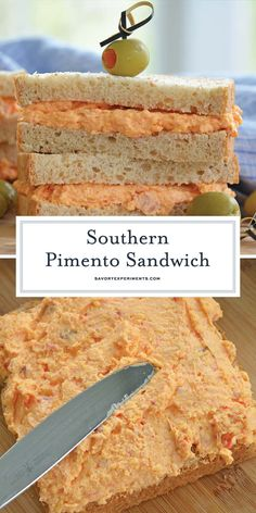 A southern classic, this Pimento Cheese Sandwich recipe is the absolute BEST! It's quick and easy to throw together and tastes amazing with pickles! Cheese Spread Sandwiches, Tea Sandwiches, Soup And Sandwich, Cheese And Pickle Sandwich, Grill Cheese Sandwich Recipes, Sandwich Spread, Homemade Pimento Cheese, Pimento Cheese Recipes, Pimiento Cheese