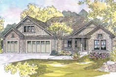 House Plan 035-00297 - Ranch Plan: 2,103 Square Feet, 3 Bedrooms, 2 Bathrooms