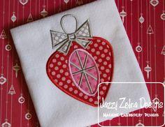 Retro Ornament 9 Applique Design: Jazzy Zebra Designs