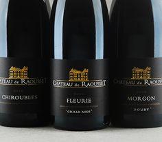 Trio Chateau de Raousset : Chiroubles, Fleurie e Morgon