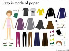 Lizzy paper doll
