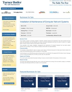Are you searching to buy computer network systems businesses for sale from turner butler  They specialize in the supply, installation, management and maintenance of computer hardware from top brand channel partners such as Toshiba, HP, Sony, IBM and Compaq as well as their own brand hardware.  #turnerbutler #businessesforsale #buyingabusiness #UKbusinesstransferagents #ITsolution #hardwaremaintenance #softwaremaintenance #wesellbusiness #sellingyourbusiness #freebusinessvaluation