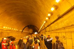 They closed off half the tunnel in rome for the pope! #pope #rome #italy #tunnel