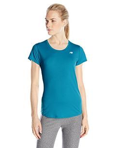 New Balance Womens Accelerate Short Sleeve Shirt Castaway Small -- Continue to the product at the image link.