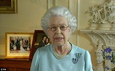 The Queen delivers a VERY rare address to the nation and the Commonwealth from Buckingham Palace to thank all those behind her Diamond Jubilee celebrations