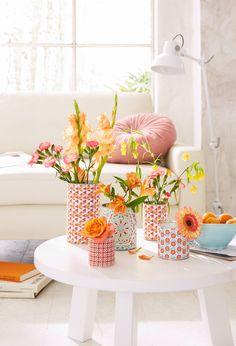 Vasen aus Dosen