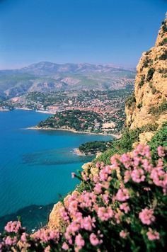 Cote d'Azur in the French Riviera - another beautiful area along the French Riviera between Nice and Monaco