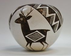 Acoma Pottery Vessel by Lucy M. Lewis Native American Pottery, Lucy M. Lewis Pottery, by CulturalPatina on Etsy Native American Pottery, Native American Indians, Vases, Cultural Artifact, Pots, Pueblo Pottery, Southwest Art, Southwest Pottery, Pottery Designs