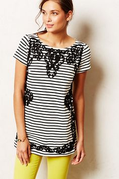 Scrolled Stripe Tunic #anthropologie