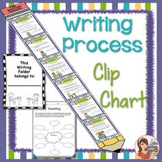 SIX STEPS OF WRITING MONITORING CHARTThis pencil shaped Writing Process sign adds a great pop of color to your classroom while reinforcing the steps visually.  You can easily monitor your students' progress by having them clip a clothes pin with their name on it, onto whichever step they are at.PRINTABLES INCLUDED: The Writing Process Signs  Pencil Top  Step 1: Prewriting Step 2: Drafting Step 3: Sharing Step 4: Revising Step 5: Proofreading Step 6: Publishing Pencil Bottom Student Folder…