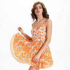 2016 Summer New Sleeveless Sling Sexy Halter Backless  Swing Dress  Vestido Curto Plus Size 2xl