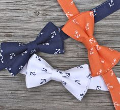 Anchor Bow Tie For Boys