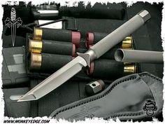 Microtech Marfione Customs ADO Tanto w/Titanium Cap Vapor Blasted Unique Knives, Tactical Knives, Blade, Cap, Weapons Guns, Cold Steel, Baseball Hat, Tactical Knife, Llamas