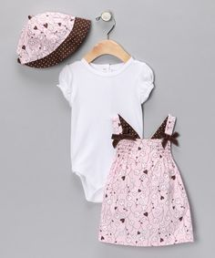 Take a look at this Pink Flower & Heart Jumper Set by Vitamins Baby on #zulily today!