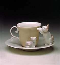 Lladro cup and kittens