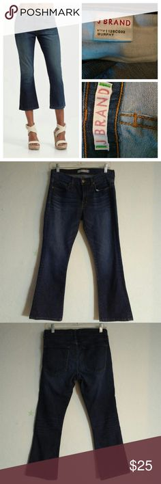 "J BRAND Murphy croped jeans Size 28 Waist 32"" Length 34"" Inseam 25"" Croped flare jeans Perfect condition J Brand Jeans"