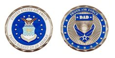 Proud Air Force Dad Coin Item CC-1356
