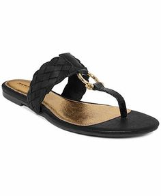 Sperry Top-Sider Women's Carlin Leather Woven Thong Sandals