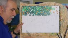 ΣχεδιαΖΩγραφίζω ένα καμπούσικο περιβόλι/painting an orange garden at Kam... Watercolors, Watercolor Paintings, Tv, Water Colors, Television Set, Watercolour Paintings, Watercolor, Watercolor Art, Television