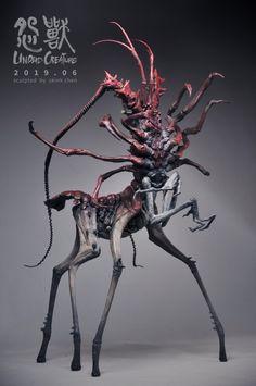 (4) Twitter Monster Concept Art, Alien Concept Art, Creature Concept Art, Fantasy Monster, Monster Art, Arte Horror, Horror Art, Creature Feature, Creature Design
