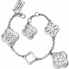 """Brighton """"My flat in London"""" collection by Brighton. Width: 1"""" Closure: Lobster Claw Length: 7"""" - 7 1/2"""" Adjustable Material: Swarovski crystal Finish: Nickel plated Brighton Jewelry Bracelets"""