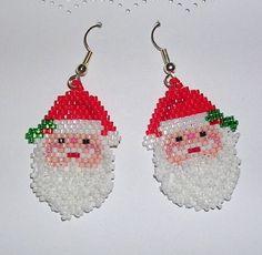 Free Beaded Wreath Patterns | christmas women jewelry: beaded earrings | make handmade, crochet ...