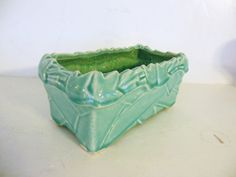 Turquoise McCoy Pottery Planter by 40sZen on Etsy, $18.00