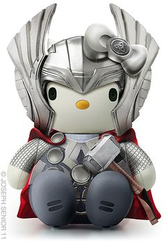HeroChan — Hello Kitty Thor & Loki Created by Joseph Senior .
