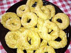 Αλμυρά κουλουράκια (μπατόν σαλέ) συνταγή από Foyla Doda - Cookpad Bagel, Doughnut, Bread, Desserts, Food, Tailgate Desserts, Deserts, Brot, Essen
