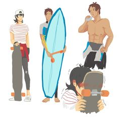 I know we have surfer!Lance but what about skater!Keith beach bums for daysss references for Keith from (x)