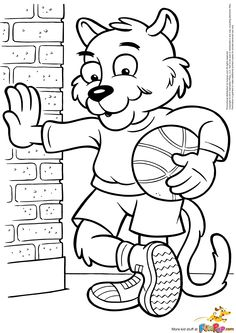 mario basketball coloring pages